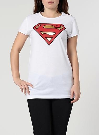 Supergirl Tişört Beyaz
